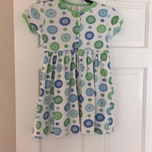 Blue and green Hanna Anderson play dress